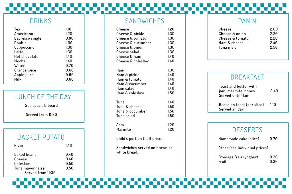 Chichester nursery cafe menu