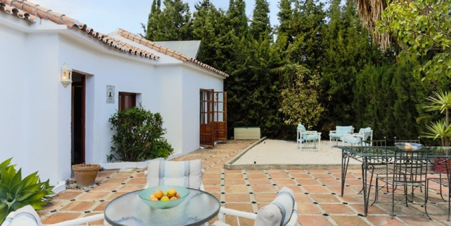 Large finca Marbella Finca Buenaventura garden suite gardens and terrace