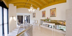 Luxury villa Marbella 10 bedrooms Villa el Cano hallway upstairs marbled floors