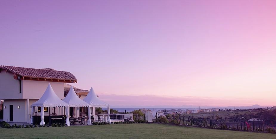 Luxury villa Marbella 10 bedrooms Villa el Cano sunset view