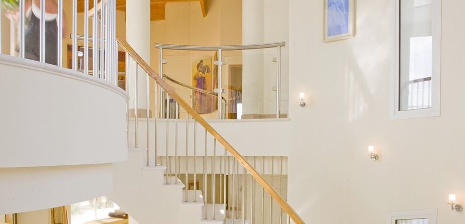 Villa el Cid luxury villa Marbella hallways