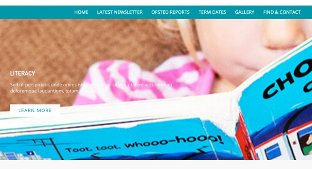 Nursery website design in West Sussex
