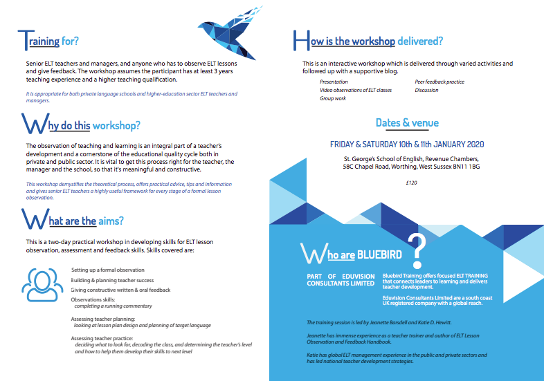 bluebird training