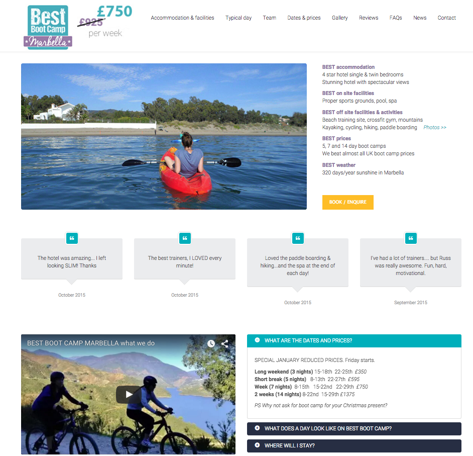 Latest D3 Marketing work : Boot camp website design